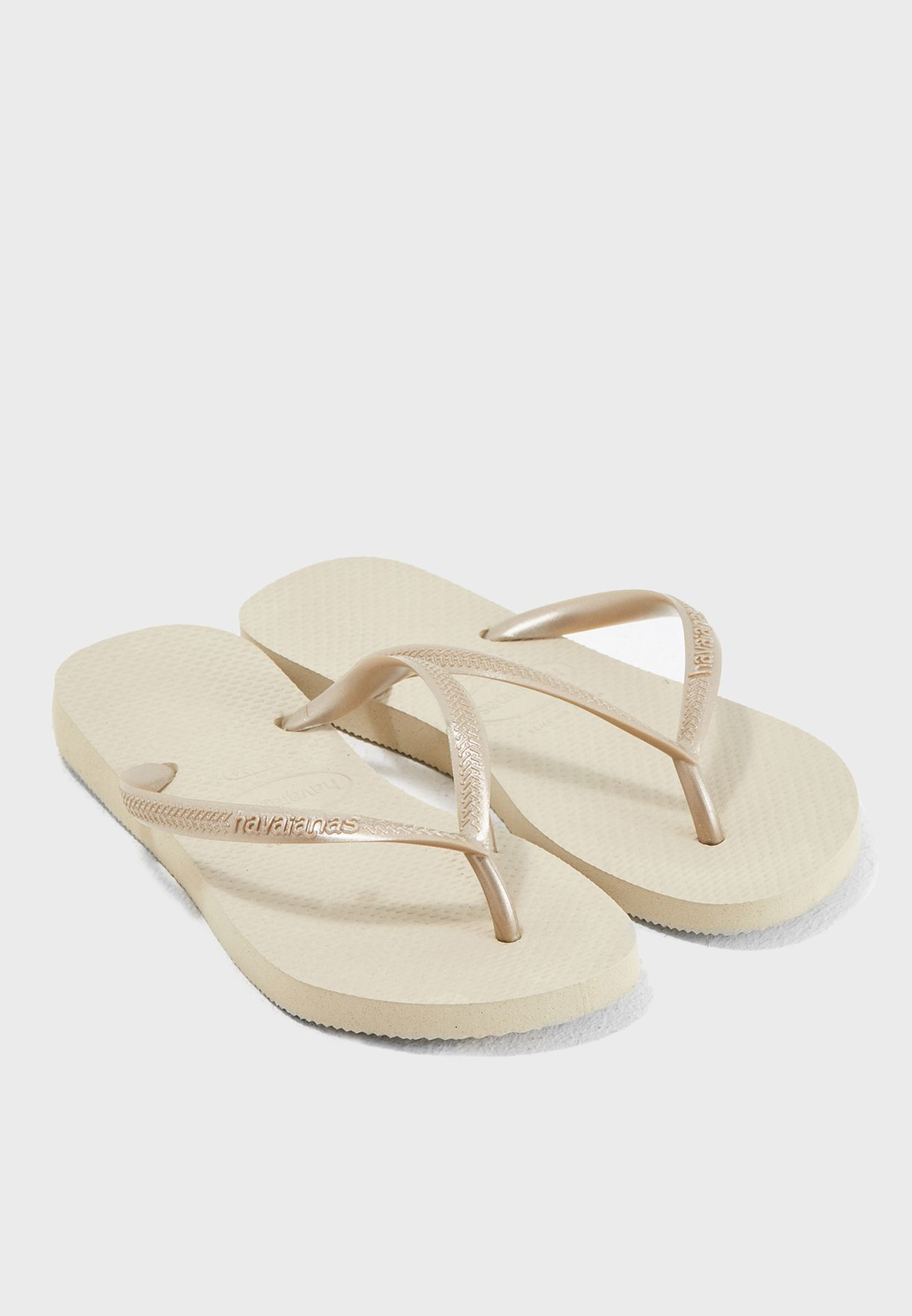 493c303fb Shop Havaianas beige Hav Slim Flip Flops 4000030 for Women in UAE ...