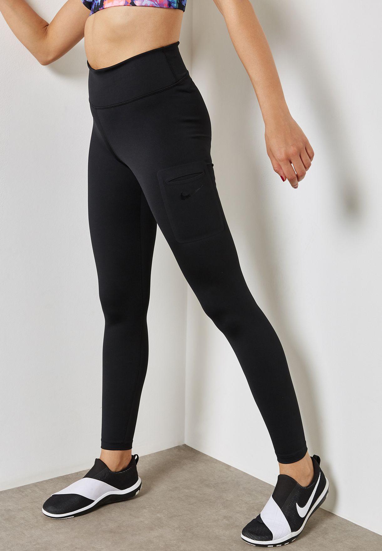 8e4ca857f8dba Shop Nike black Power Hyper Tights 933497-010 for Women in UAE ...