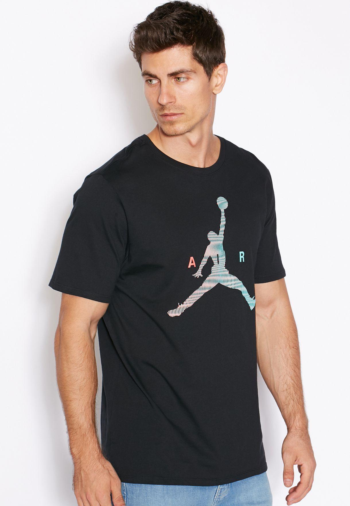 Shop Nike black Jordan Jumpman T-Shirt 789632-010 for Men in UAE ... 7e5a7ff0f3