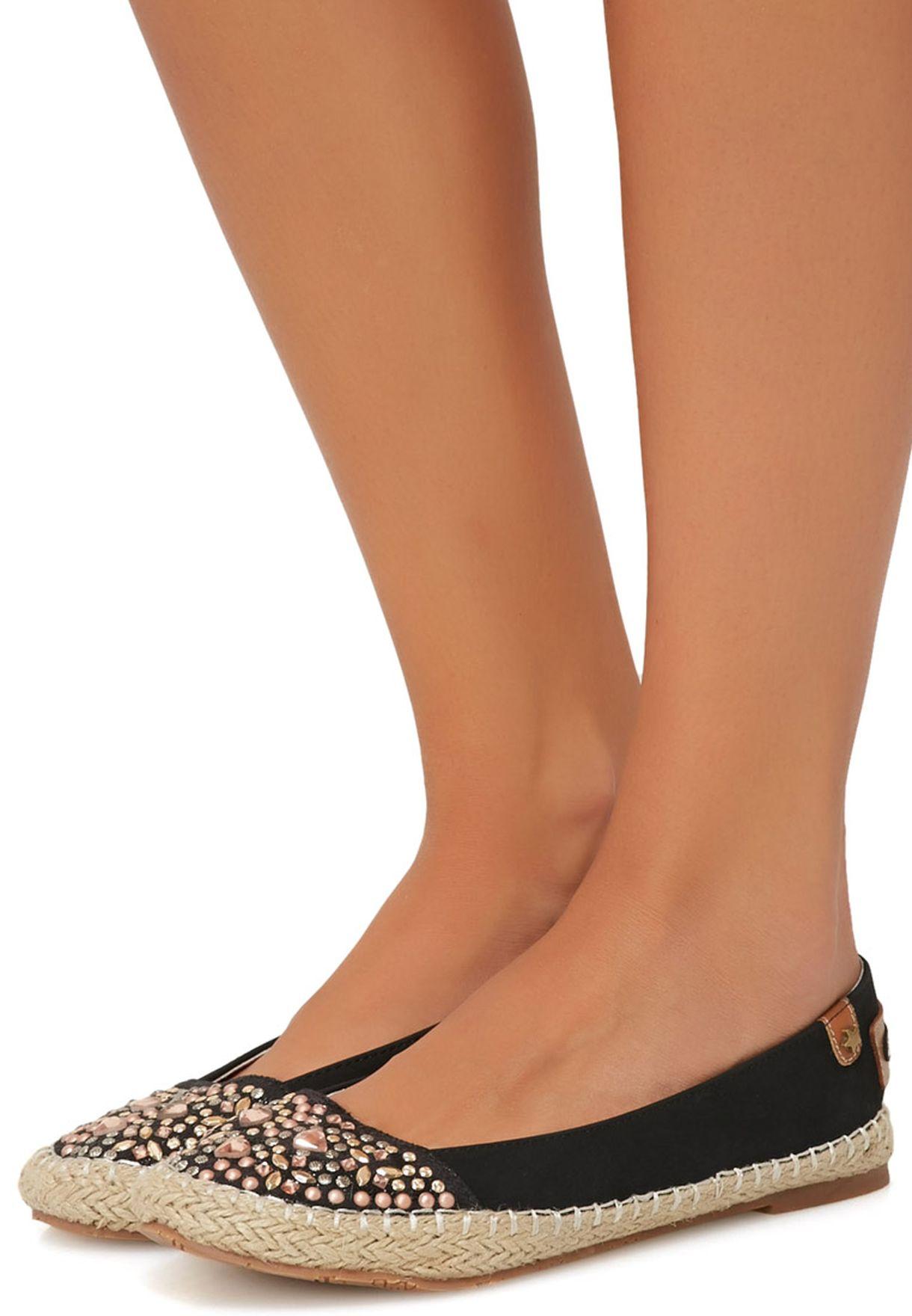 e2ca0eecc Shop Bellucci black Jewelled Espadrilles for Women in Saudi ...