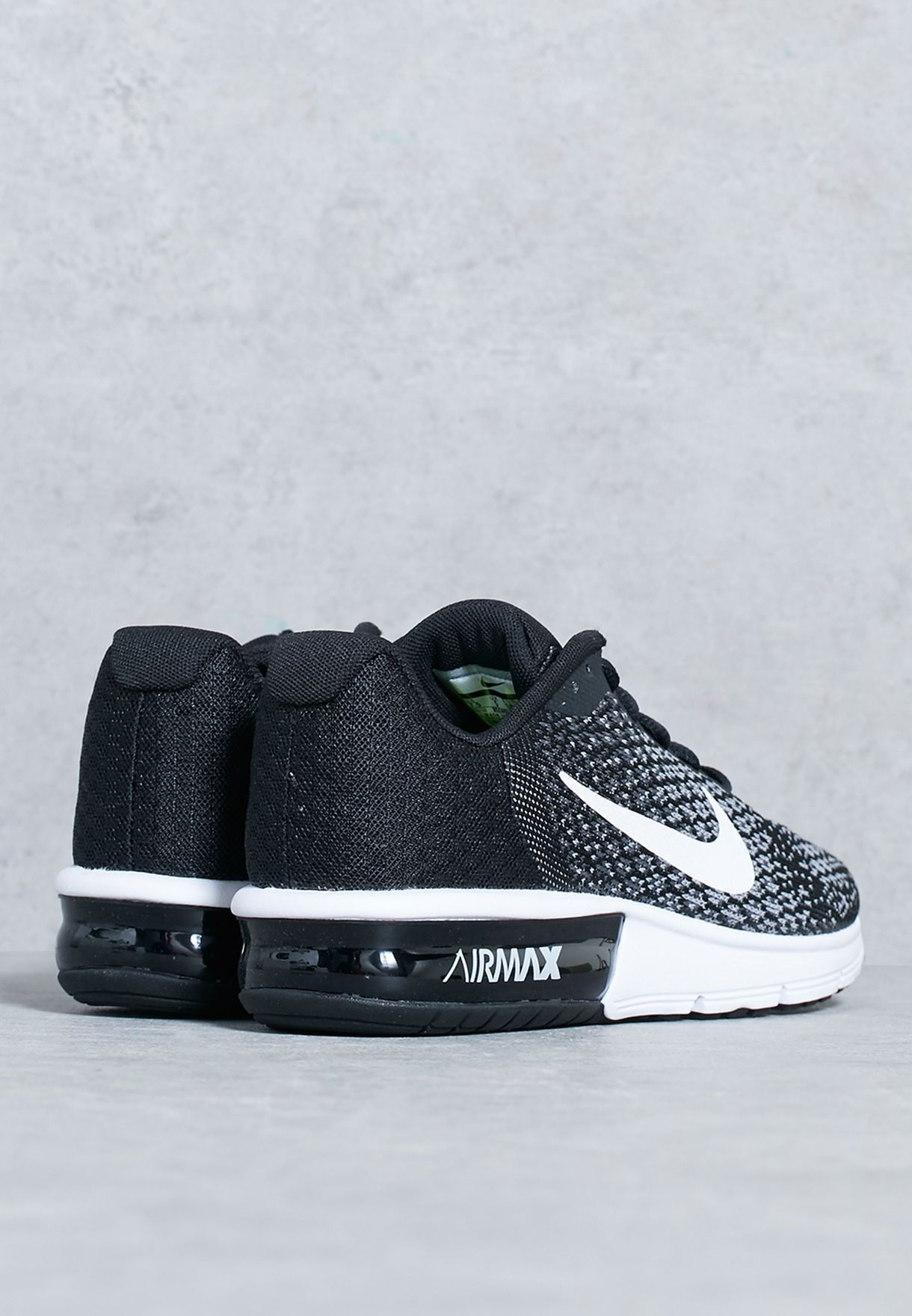 2a6361c7749435 Shop Nike black Air Max Sequent 2 852465-002 for Women in Saudi ...
