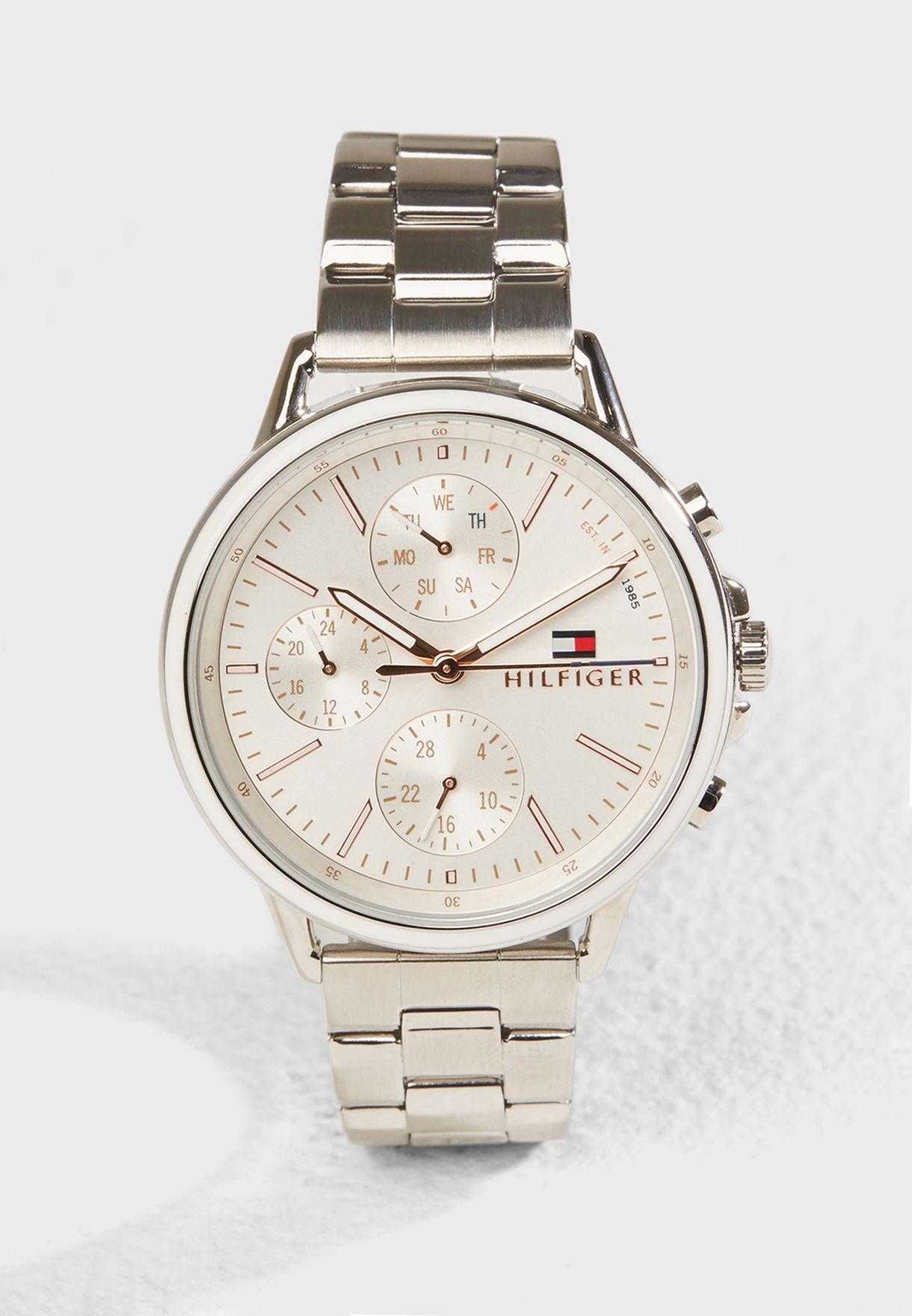 d19c2fd21 Shop Tommy Hilfiger silver Carl Watch 1781787 for Women in UAE ...