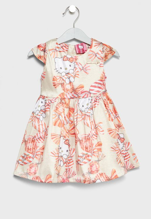 Little Bow Print Dress