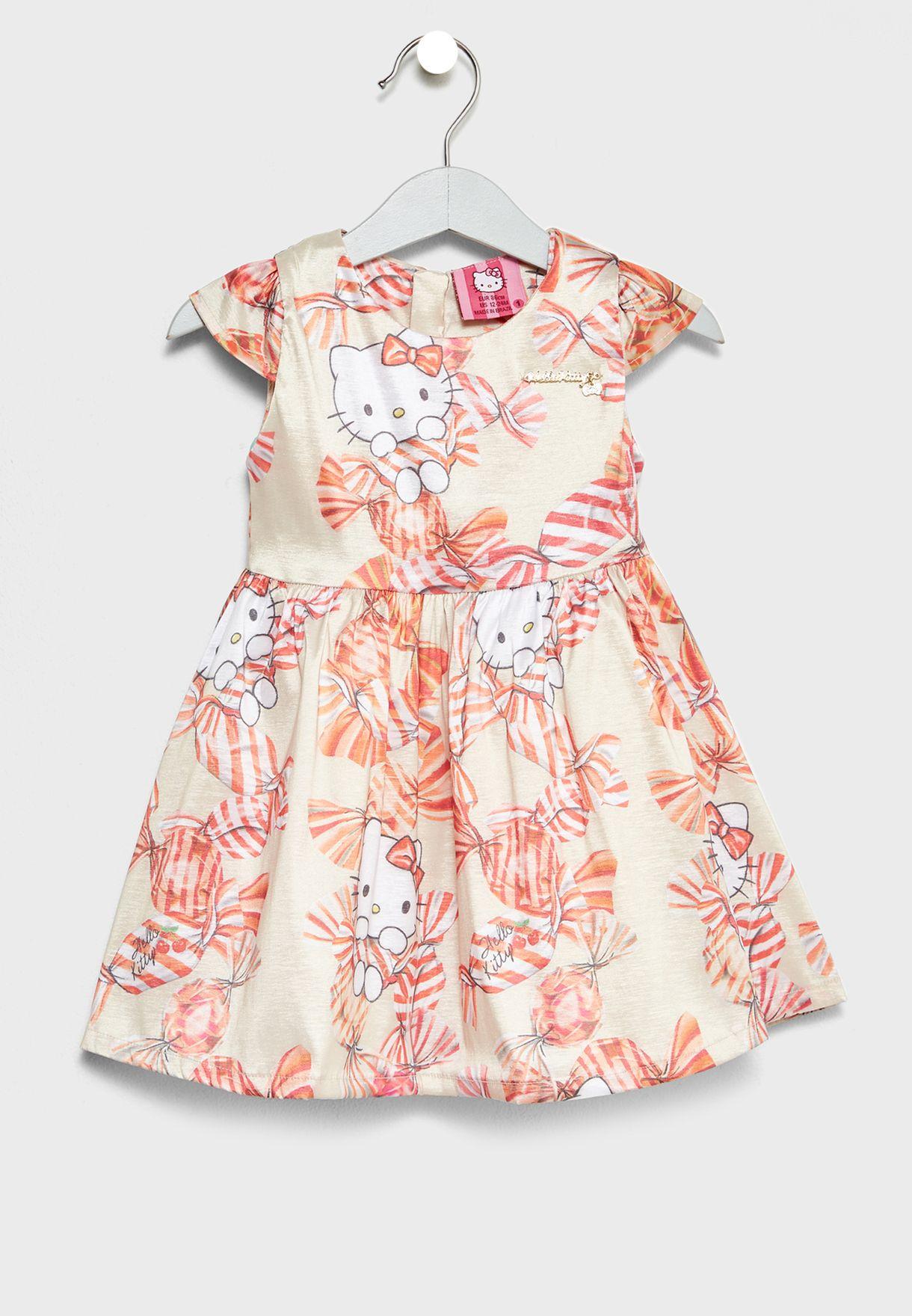 Little Bow Print Dress