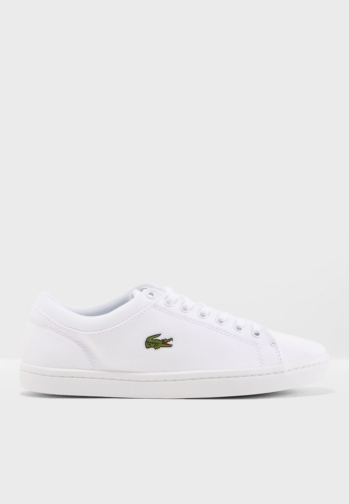 338fdcf7fad0 Shop Lacoste white Straightset Bl 2 Spw Sneaker 732SPW0134 for Women ...