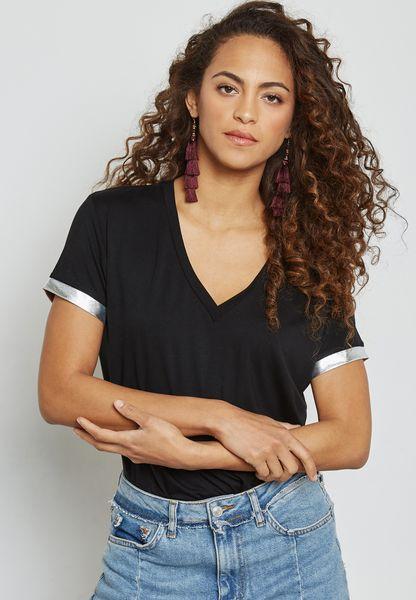Metallic Trim T-Shirt
