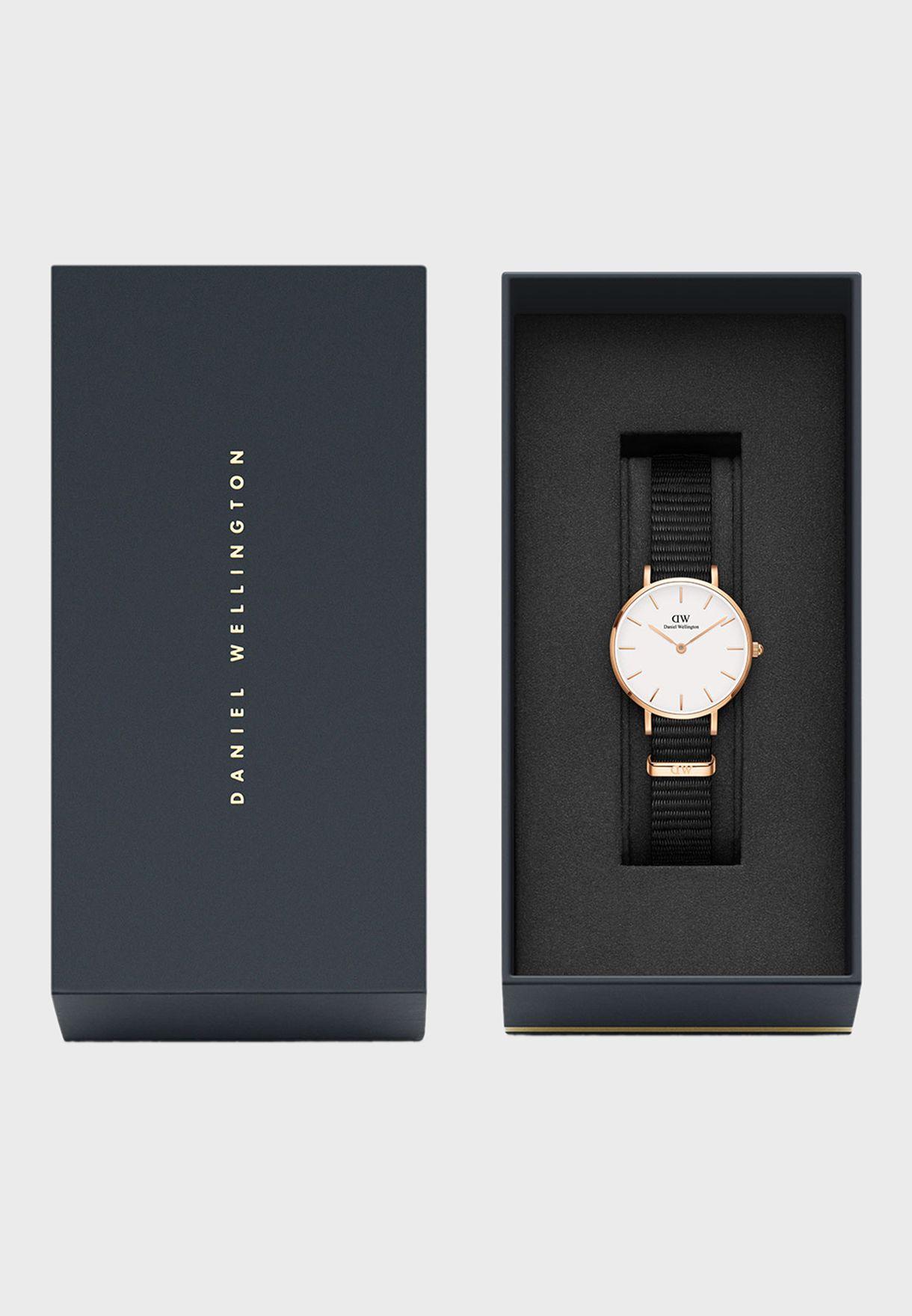 Petite Cornwall RG Black 28mm Watch DW00100247