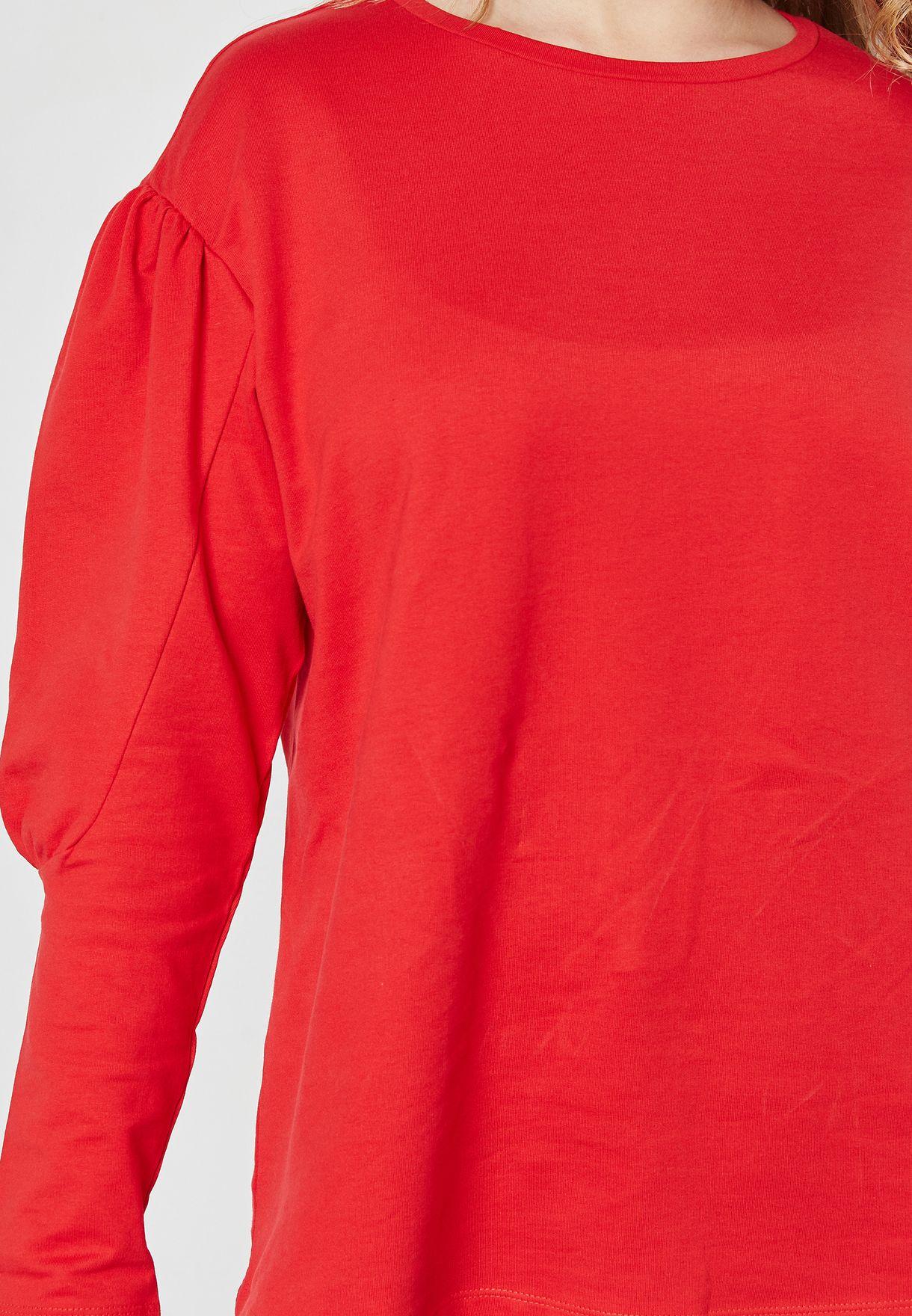 Puffed Sleeve Sweatshirt