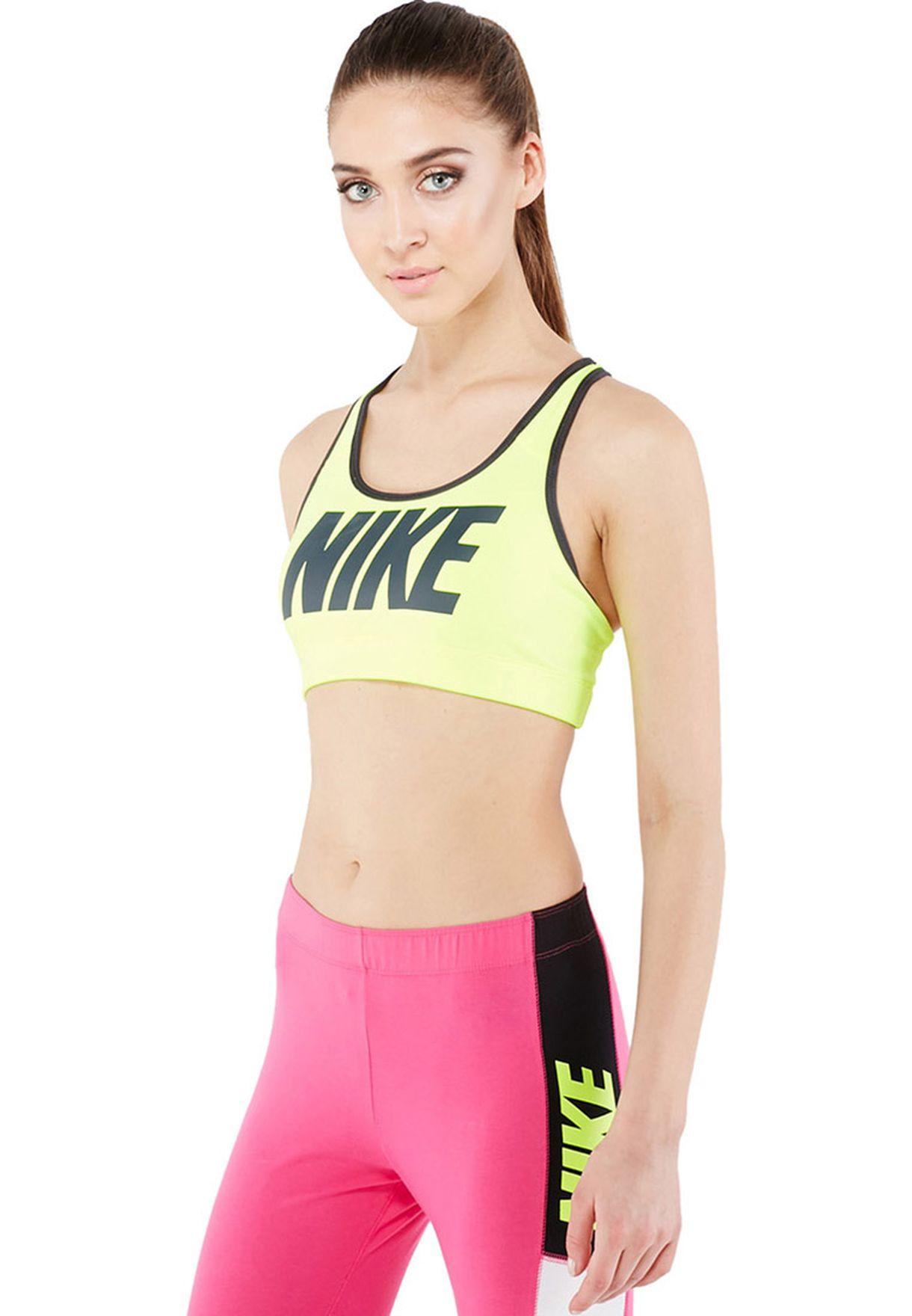 nike victory compression logo bra