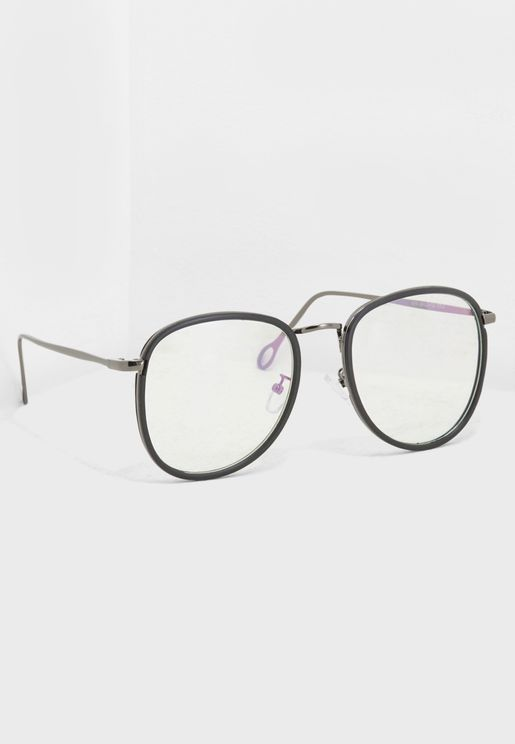نظارة افياتور شفافة