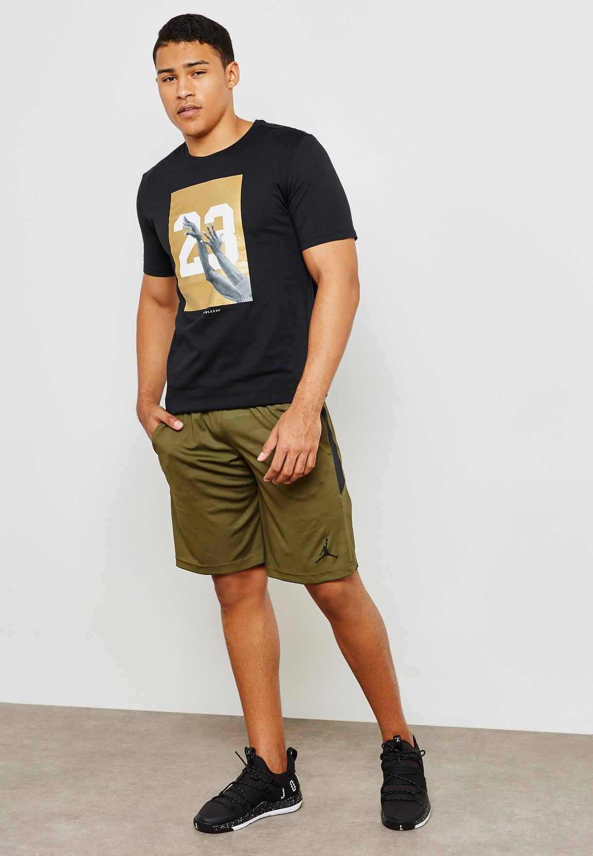 b3f17f73d9565 Shop Nike green Jordan Dri-FIT 23 Alpha Shorts AO8857-395 for Men in ...
