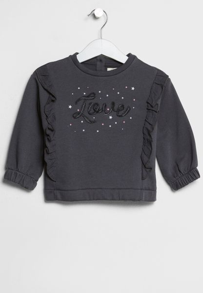 Infant Frill Detail Sweatshirt