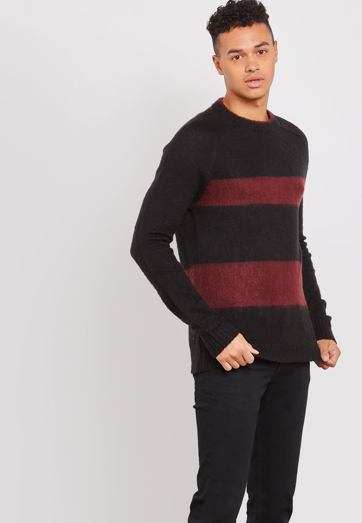 Berghain Striped Knitted Sweater