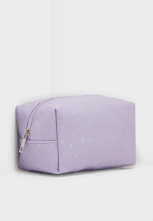 Lilac Stars Make Up Case