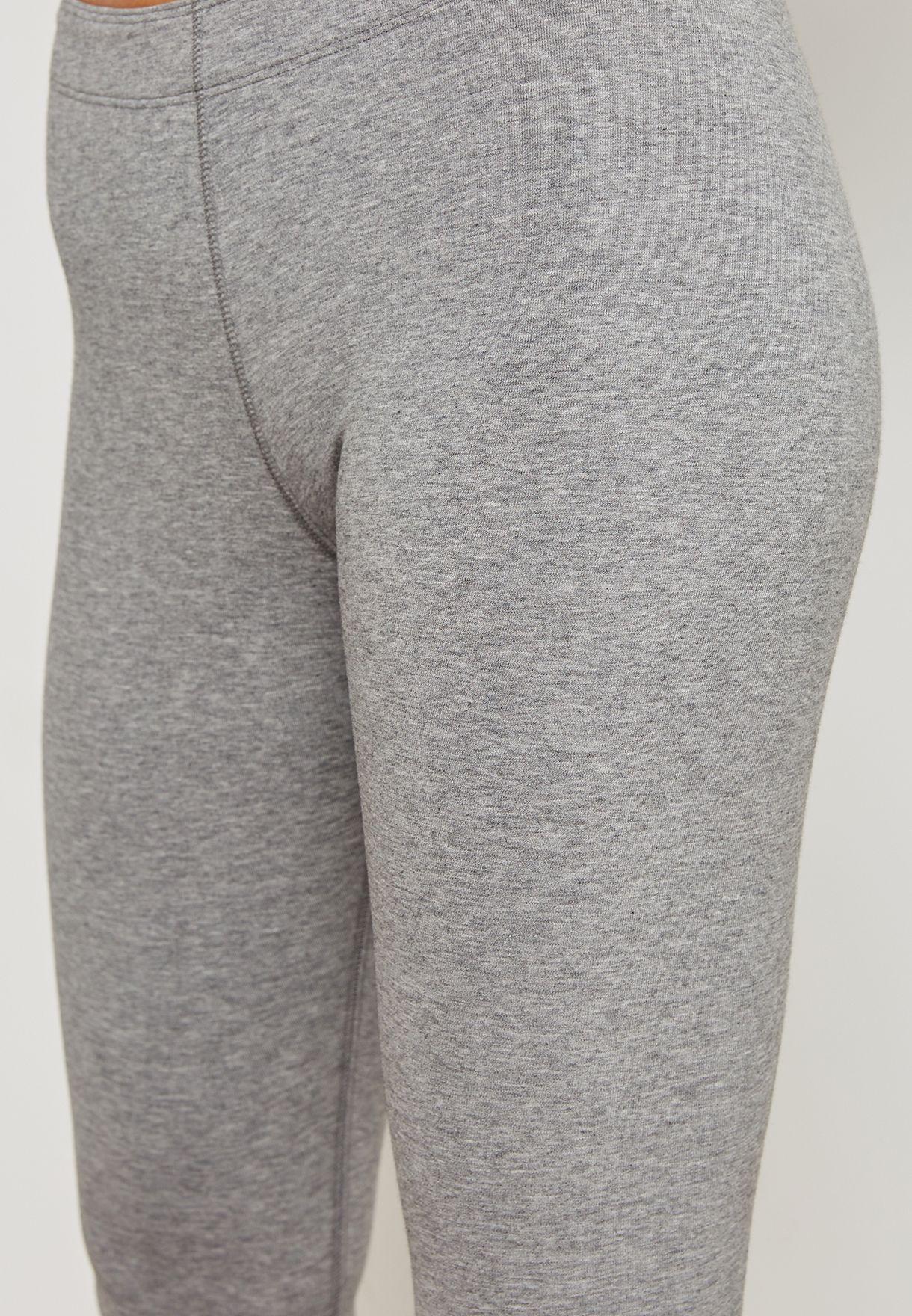 79fef0f50a6341 Shop Nike grey Leg-A-See Cropped Leggings AH2004-091 for Women in ...