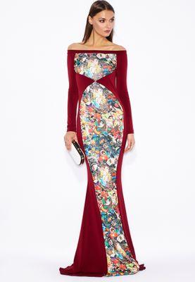 Threadz Printed Panel Dress