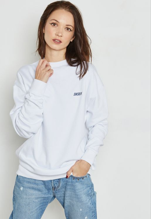 High Neck Logo Sweatshirt