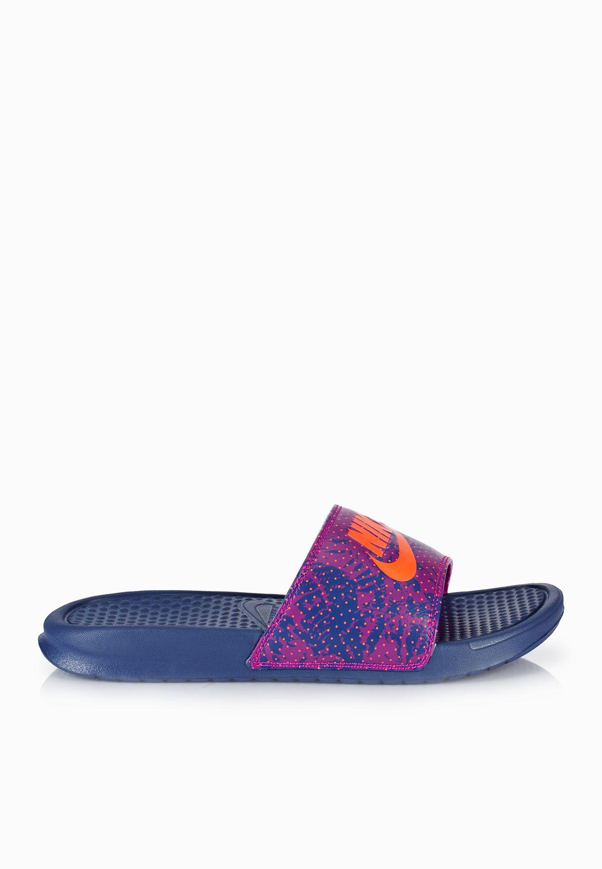 142bb0675ff4 Shop Nike purple Benassi JDI Print 618919-585 for Women in UAE ...