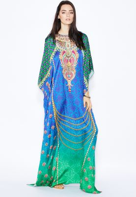 Aanchal Chanda Digital Print Embellished Kaftan