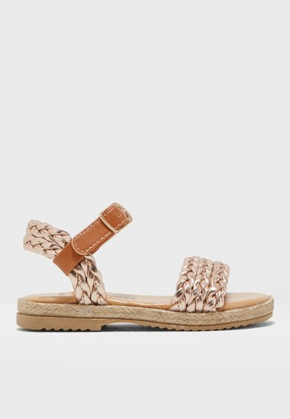 Kids Plaited Strap Sandal