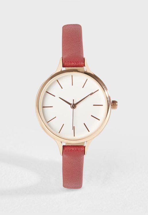 Pomegranate Strap Watch