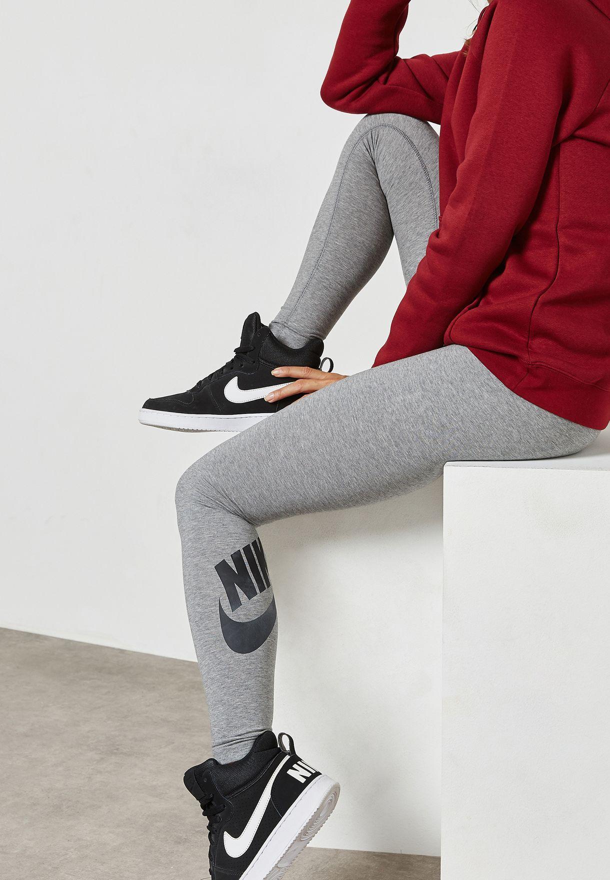 8e8bbef68d805 Shop Nike grey Leg-A-See Leggings 933346-091 for Women in Qatar ...