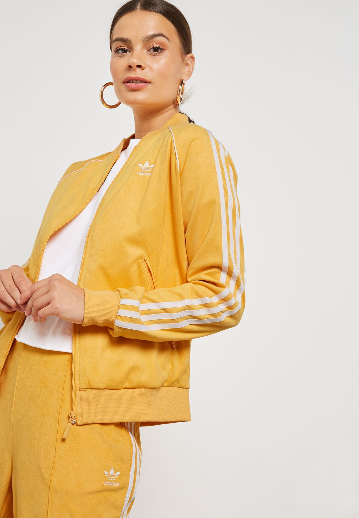 5ebc37df8c9 Shop adidas Originals yellow Superstar Track Jacket DH3120 for Women ...