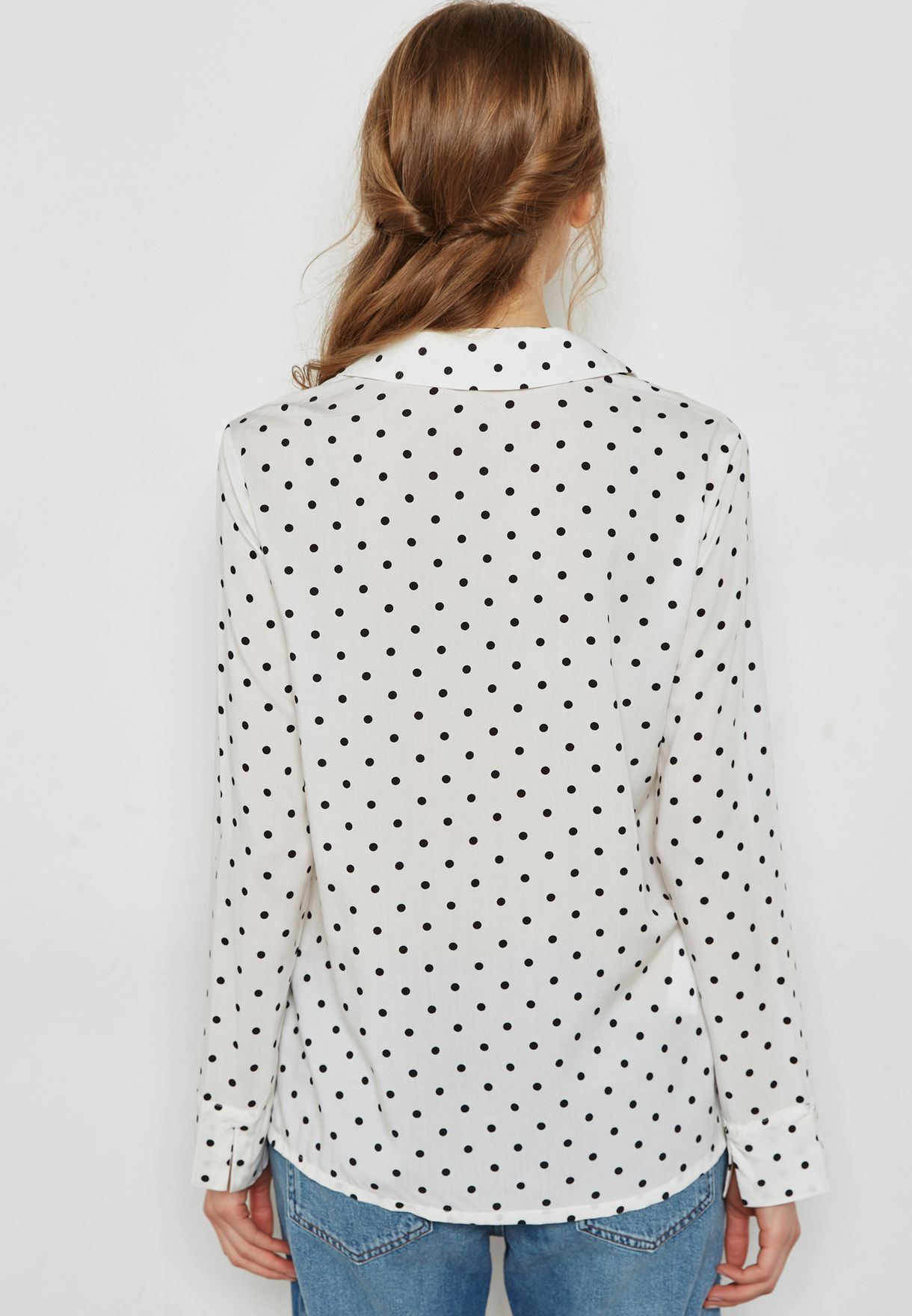 Polka Dot Printed Shirt