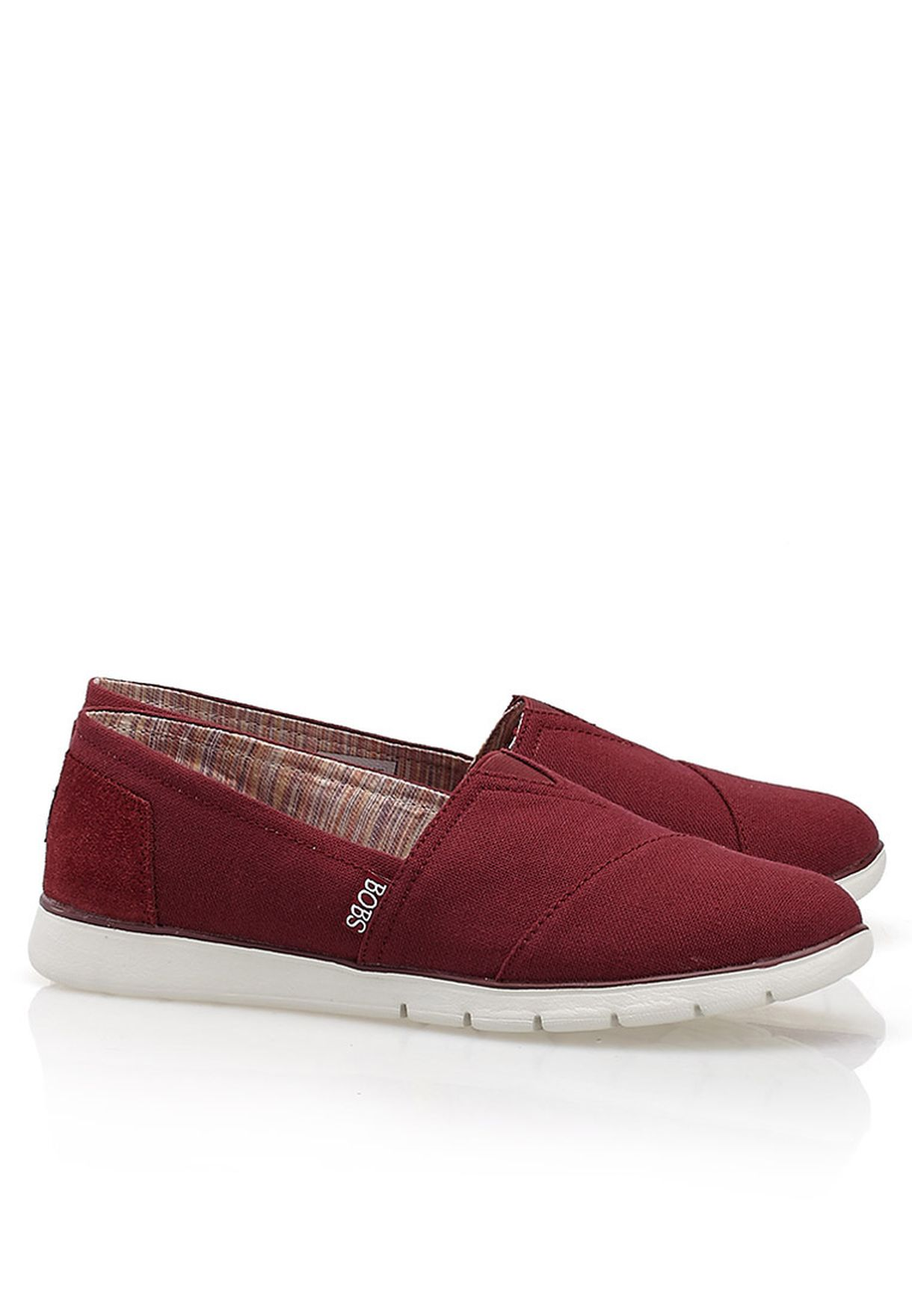 Shop Skechers red Pureflex U Tum Slip Ons 33607-BURG for Women in ... 58913754e8d7