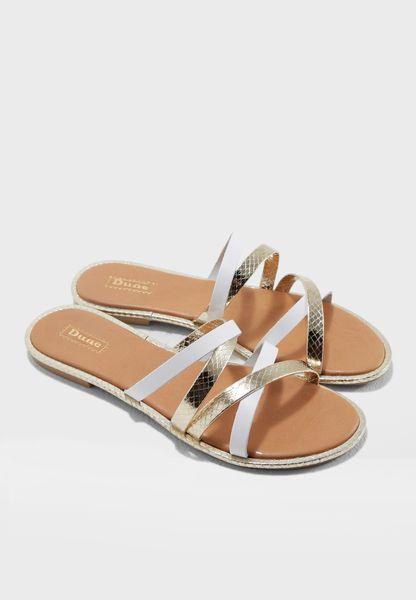Luela Multistrap Flat Sandal