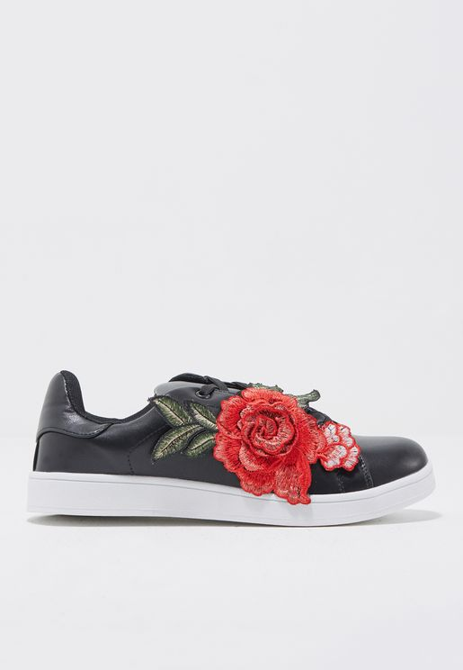 Rose Detail Sneaker