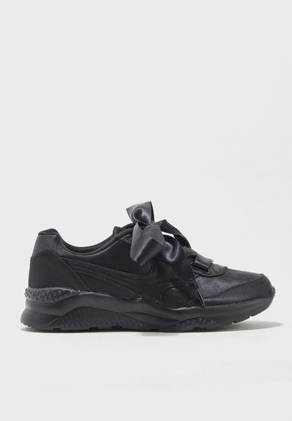 Amber Satin Sneakers