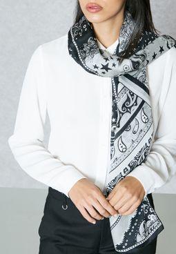 Sparkle Printed scarf