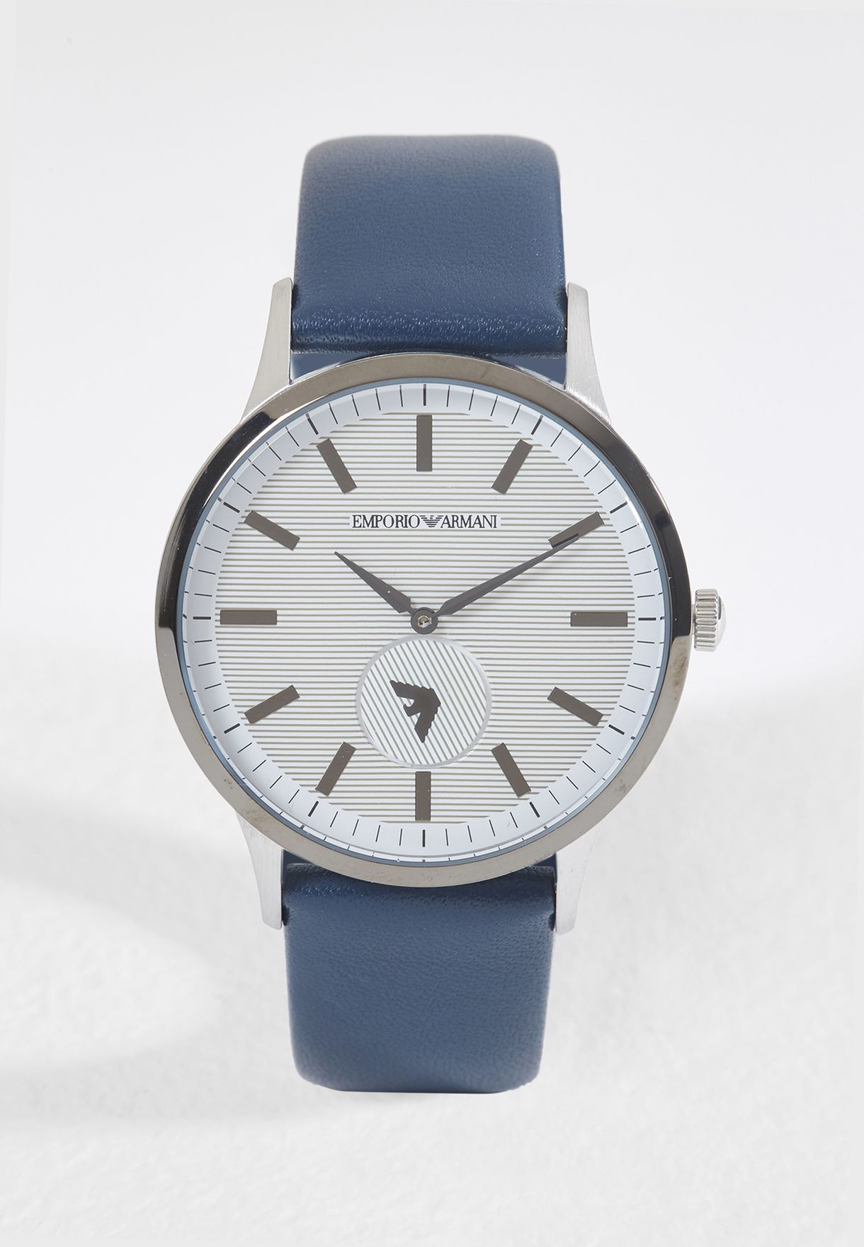 06849a03171 Shop Emporio Armani blue AR11119 Dress Leather Watch AR11119 for Men ...