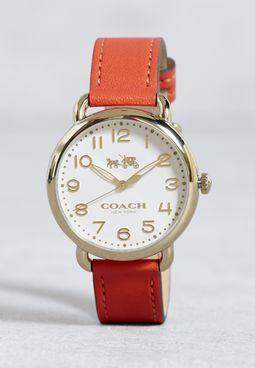 ساعة كلاسيكية جلد اصلي