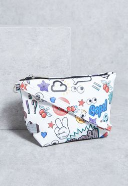 Embossed Cosmetic Pouch