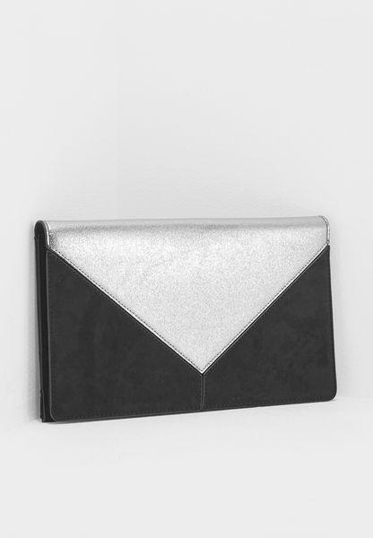 Panel Clutch Bag