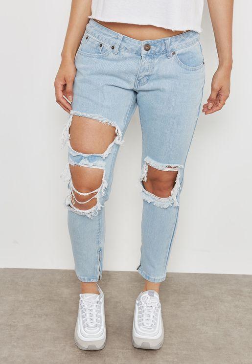 Tie Detail Jeans