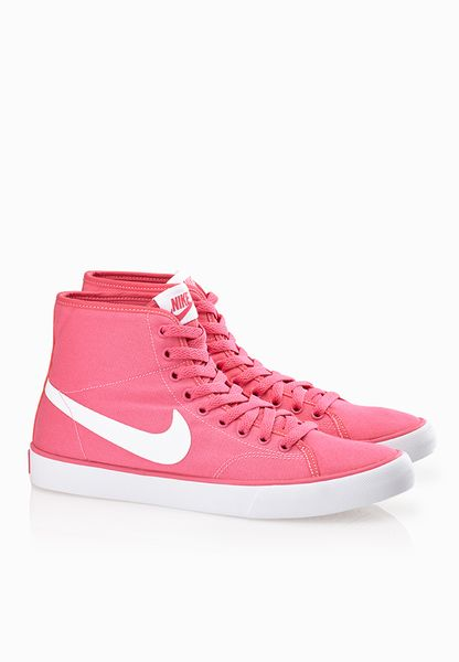 Nike Primo Court Mid Pink Canvas Shoes Women