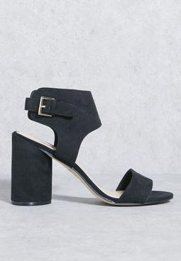 Broad Ankle Strap Block Heel