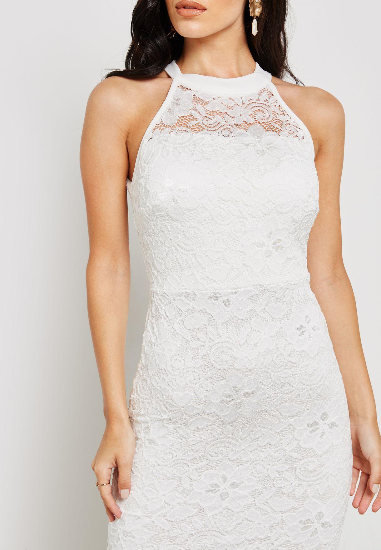 فستان مكسي دانتيل