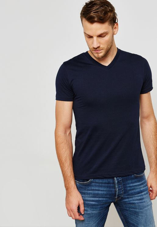 Baisc V Neck  T-Shirt