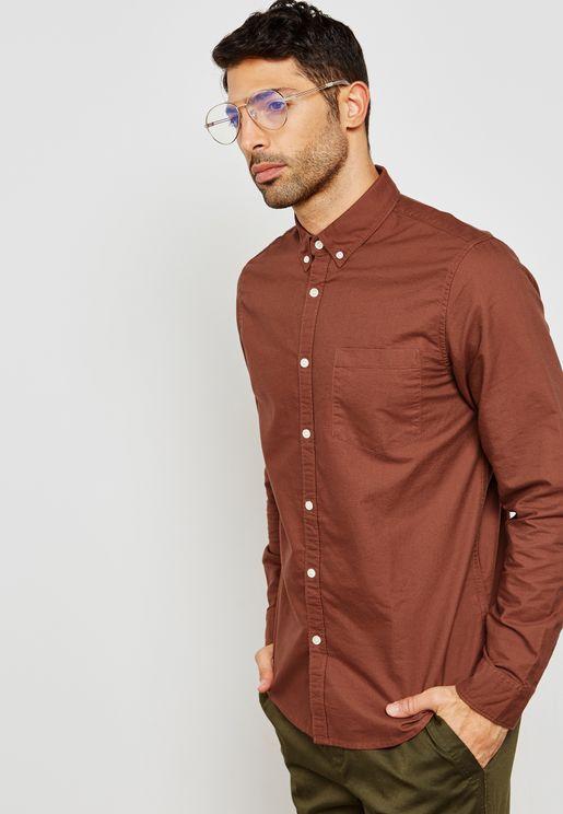 قميص سادة بأكمام