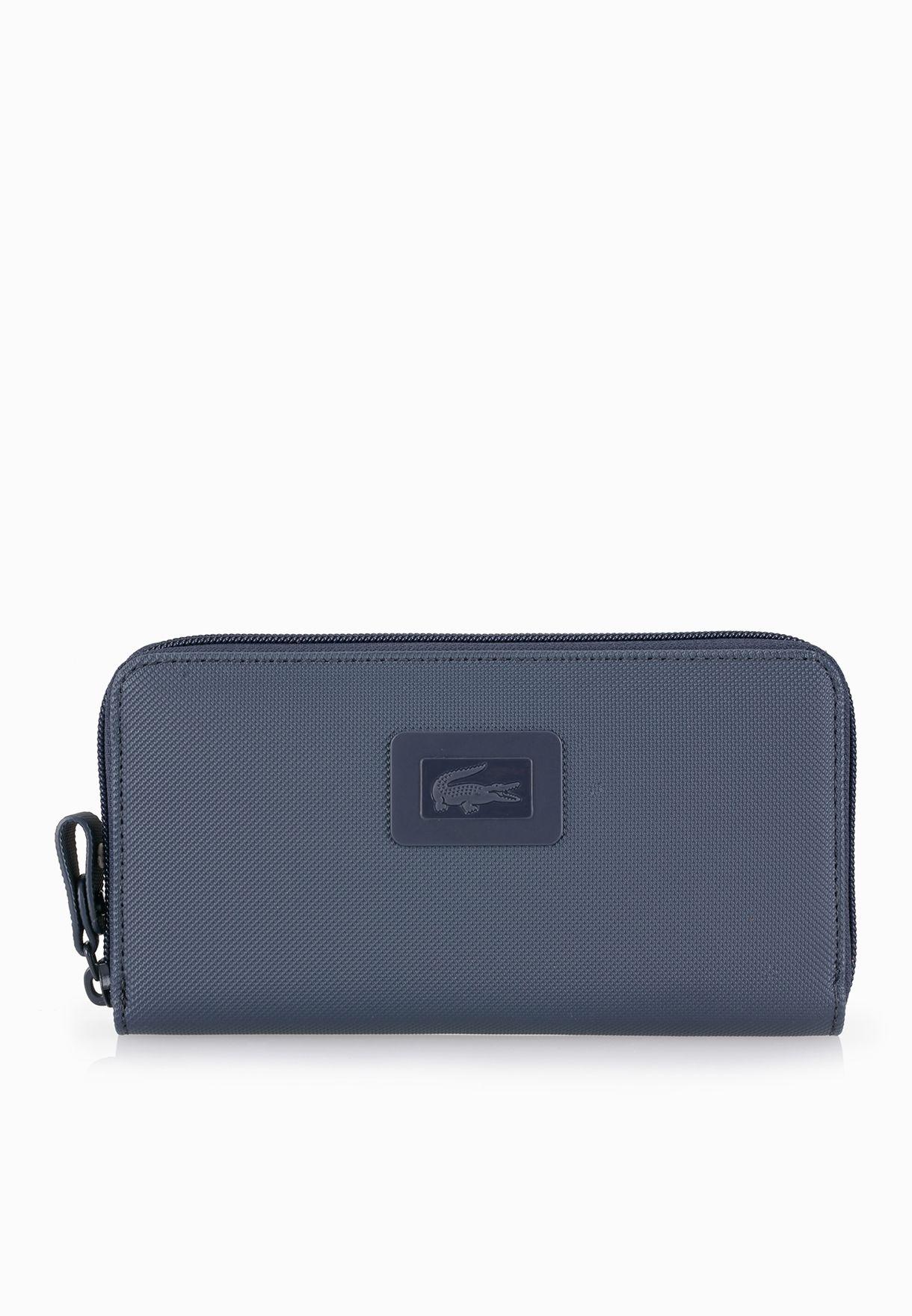 Shop Lacoste blue Large Zip Wallet NF1262WM-035 for Women in Qatar -  LA014AC76VTB e5e306cdd