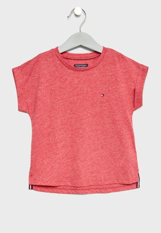 Teen Roll Up Sleeve T-Shirt