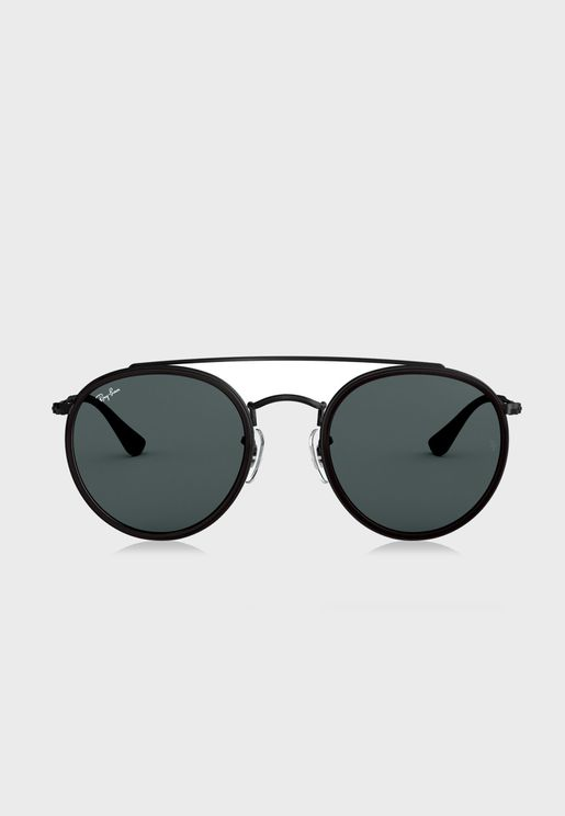 0RB3647N Double Bridge Round Sunglasses