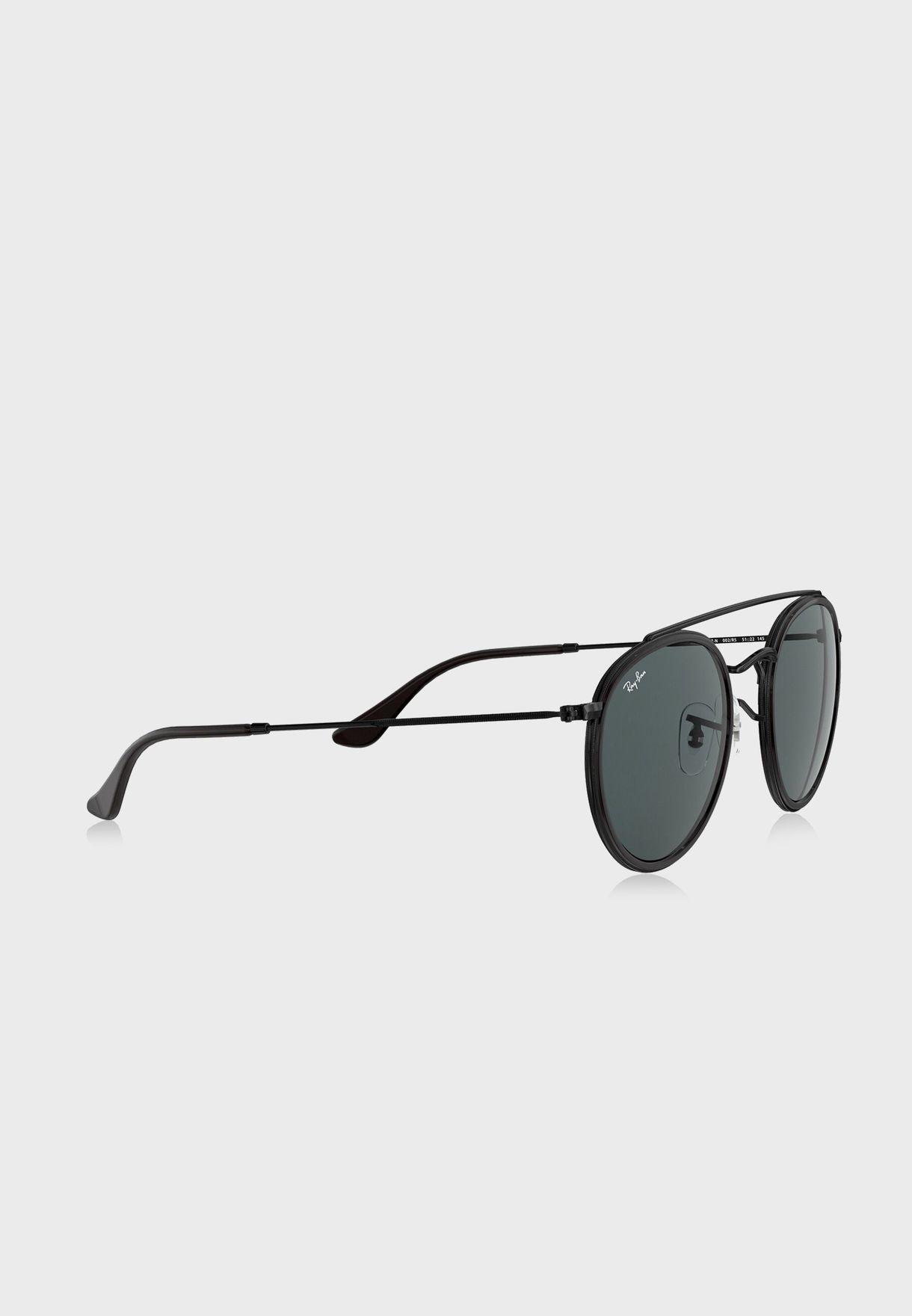 0RB3647N Double Bridge Round Sunglasses