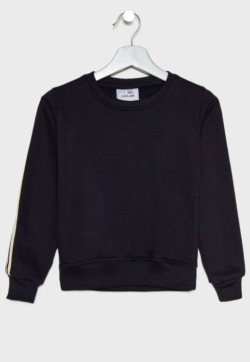 Side Striped Sweatshirt