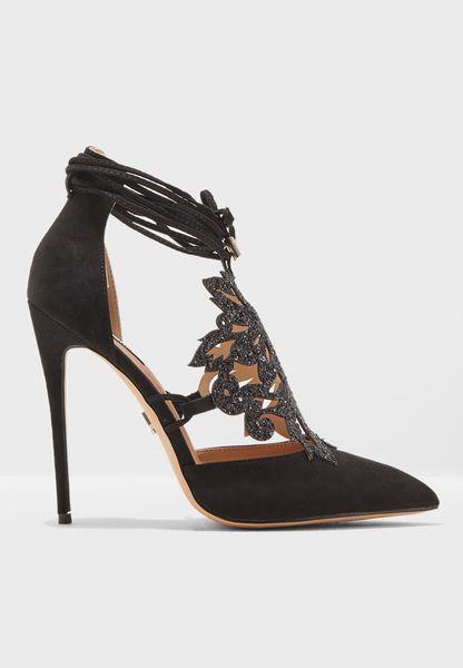 Ariel Floral Applique Heel