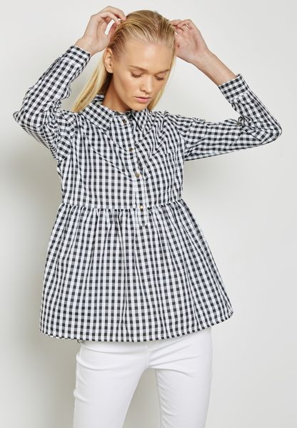 Checked High Low Shirt